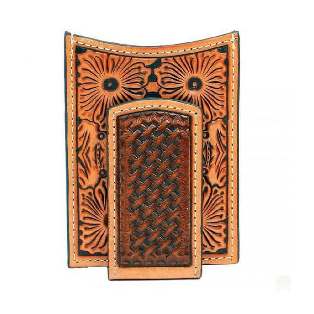 Ariat Floral Embossed Money Clip MEN - Accessories - Wallets & Money Clips M&F WESTERN PRODUCTS Teskeys