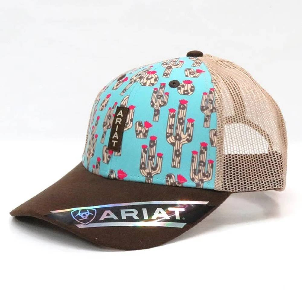 Ariat Leopard Cactus Print Cap WOMEN - Accessories - Caps, Hats & Fedoras Ariat Teskeys