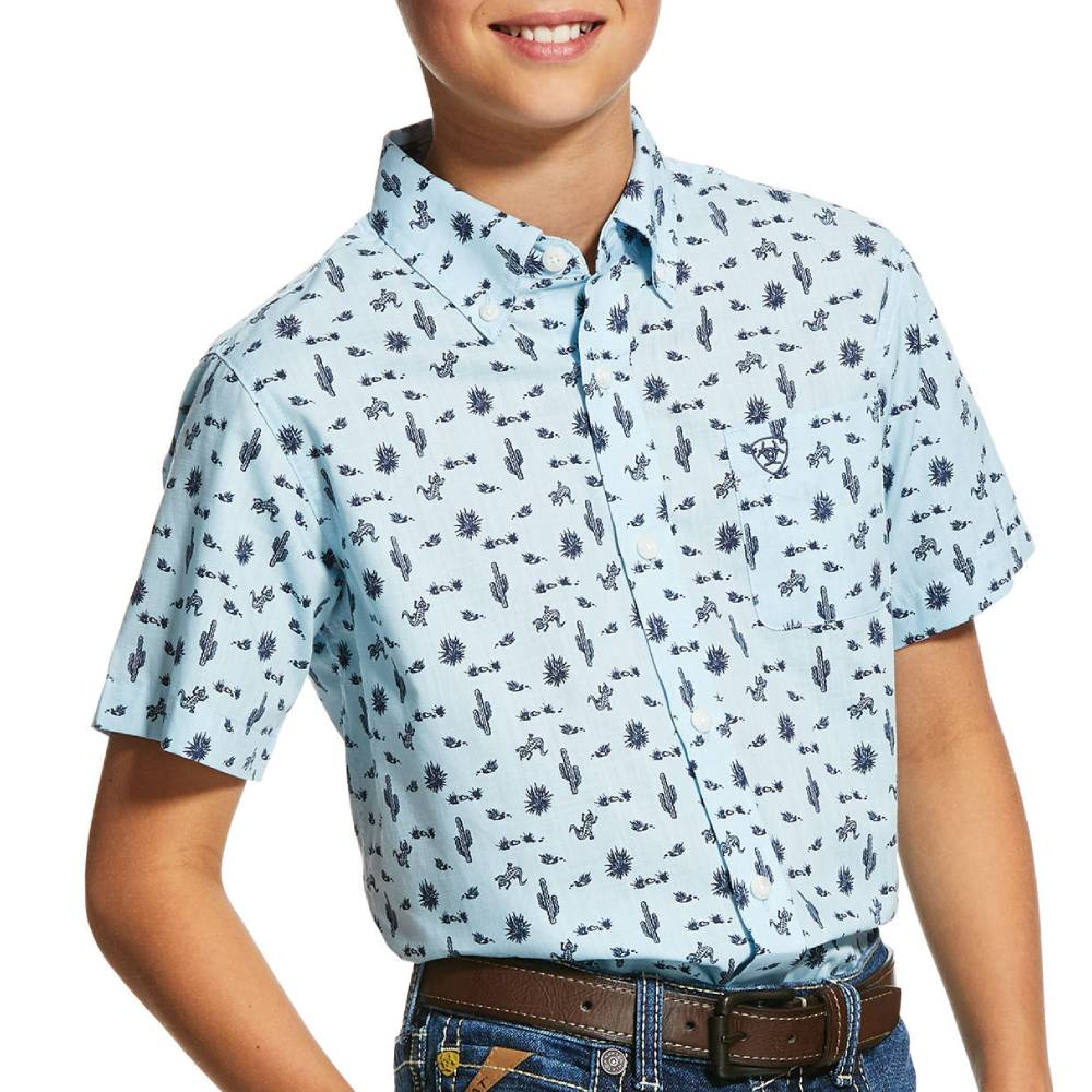 Ariat Boy's Norristown Button Down Shirt KIDS - Boys - Clothing - Shirts - Short Sleeve Shirts Ariat Clothing Teskeys