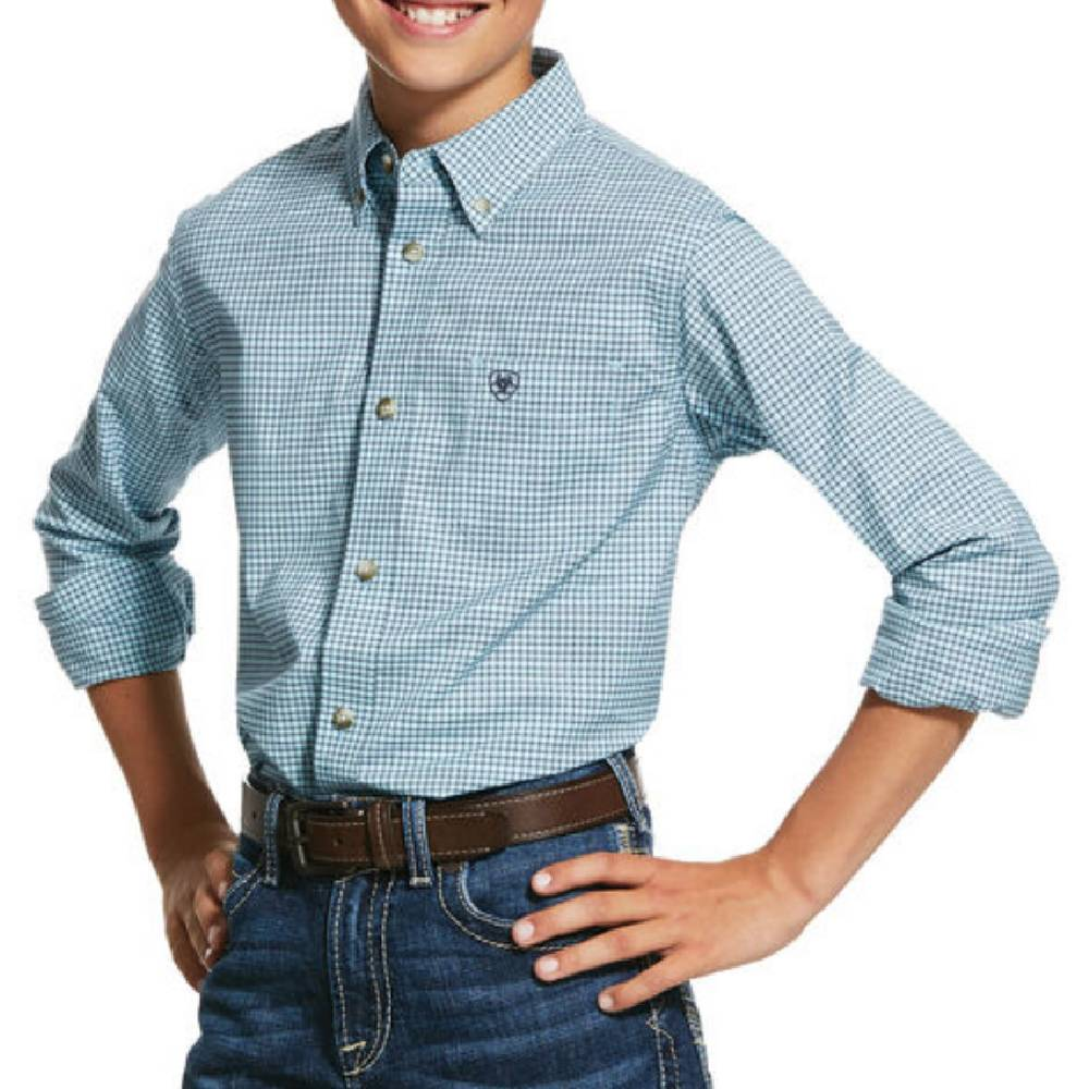 Ariat Boy's Pro Novato Button Down Shirt KIDS - Boys - Clothing - Shirts - Long Sleeve Shirts Ariat Clothing Teskeys