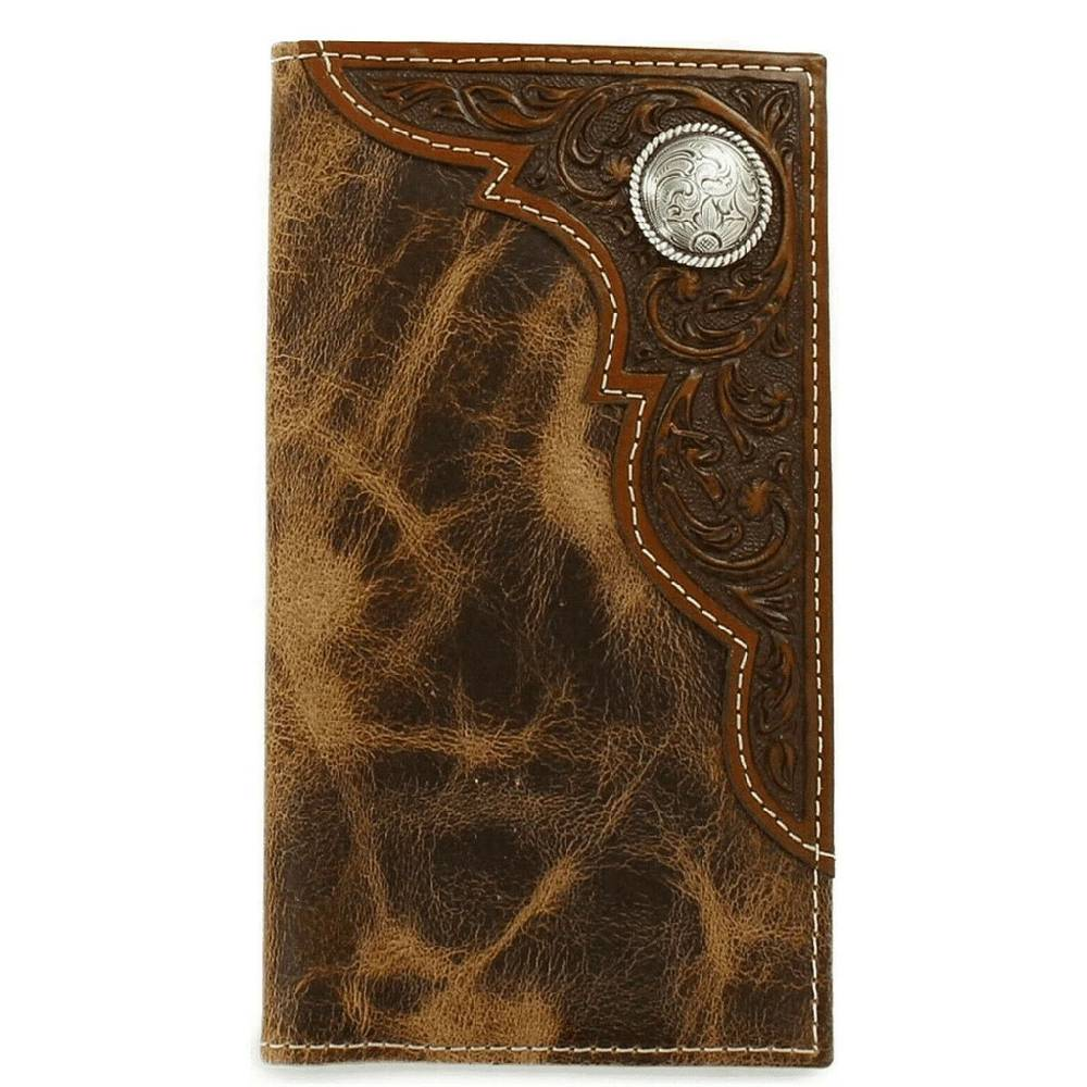 Ariat Embossed Oval Concho Rodeo Wallet MEN - Accessories - Wallets & Money Clips M&F Western Products Teskeys
