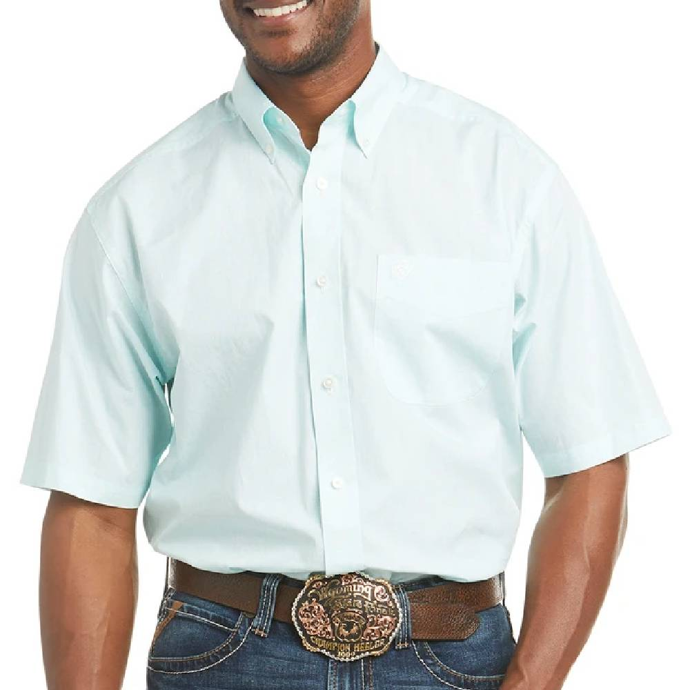 Ariat Pembroke Button Down Shirt MEN - Clothing - Shirts - Short Sleeve Shirts Ariat Clothing Teskeys
