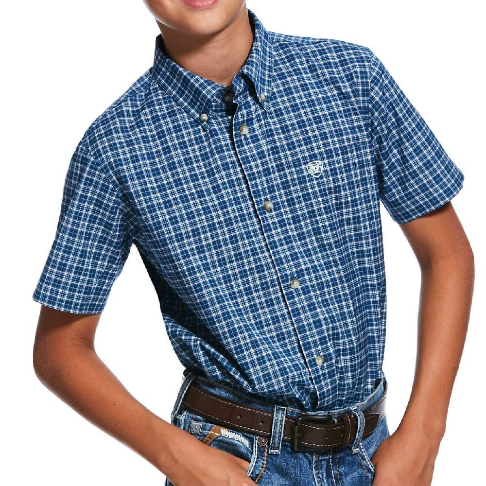 Ariat Pro Robbins Button Down Shirt KIDS - Boys - Clothing - Shirts - Short Sleeve Shirts Ariat Clothing Teskeys
