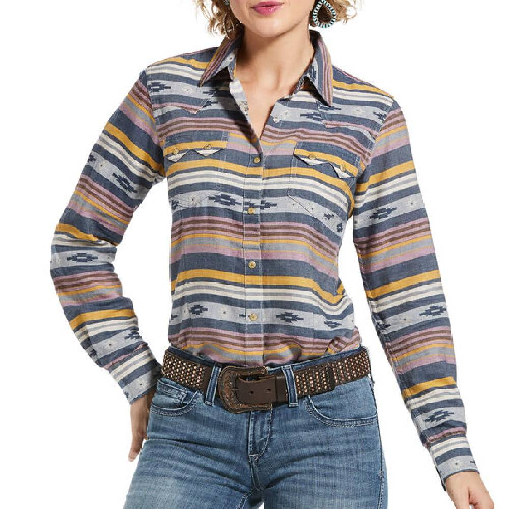 Ariat Sunset Stripe Snap Shirt WOMEN - Clothing - Tops - Long Sleeved Ariat Clothing Teskeys