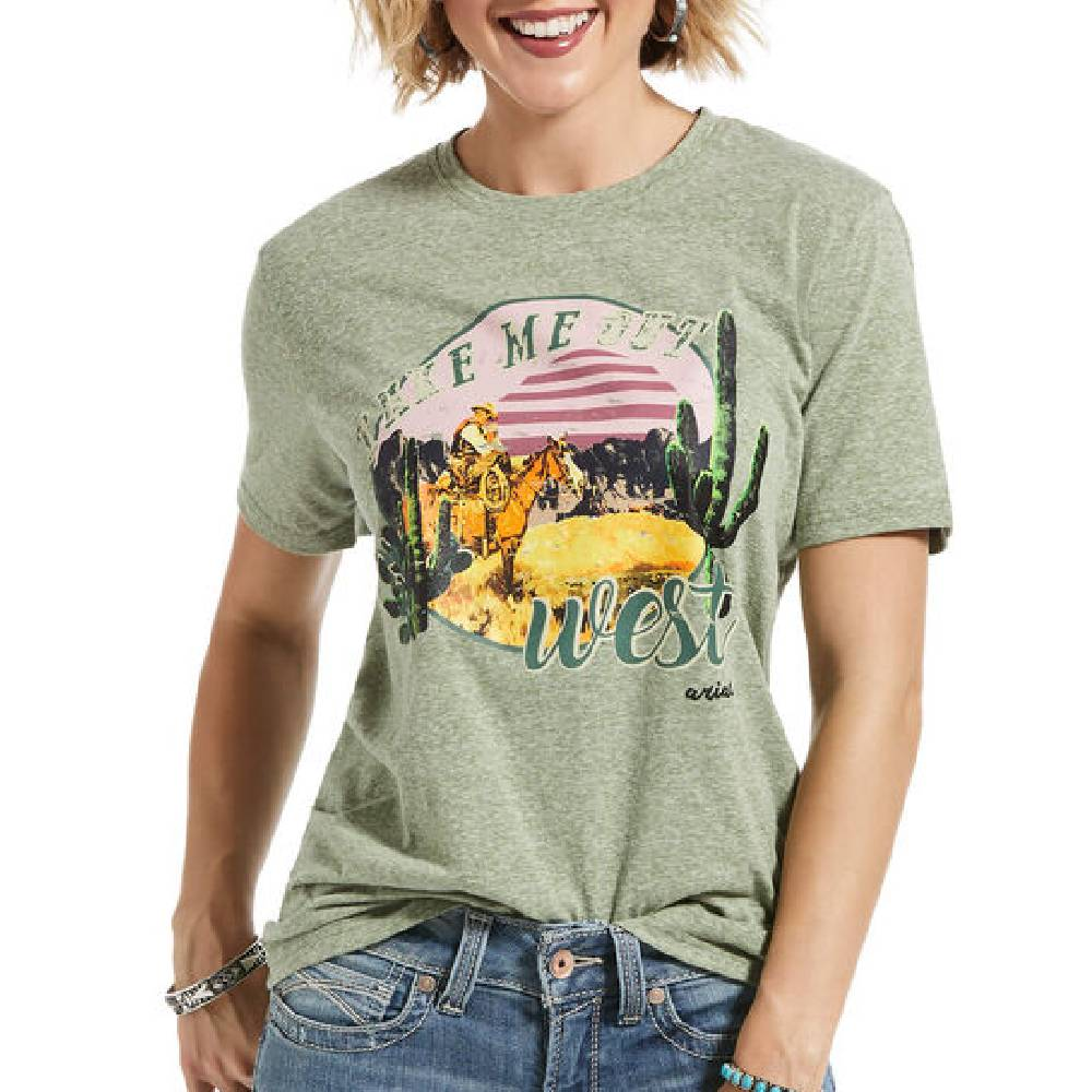 Ariat Take Me Out West Tee WOMEN - Clothing - Tops - Short Sleeved Ariat Clothing Teskeys