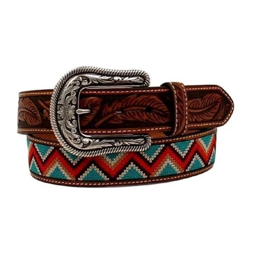 Ariat Tooled Chevron Stitch Belt WOMEN - Accessories - Belts M&F WESTERN PRODUCTS Teskeys