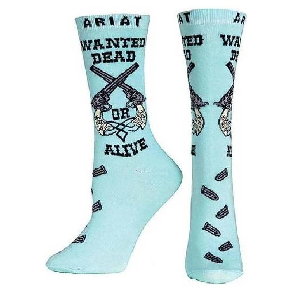 Ariat Wanted Crew Sock WOMEN - Clothing - Intimates & Hosiery M&F Western Products Teskeys