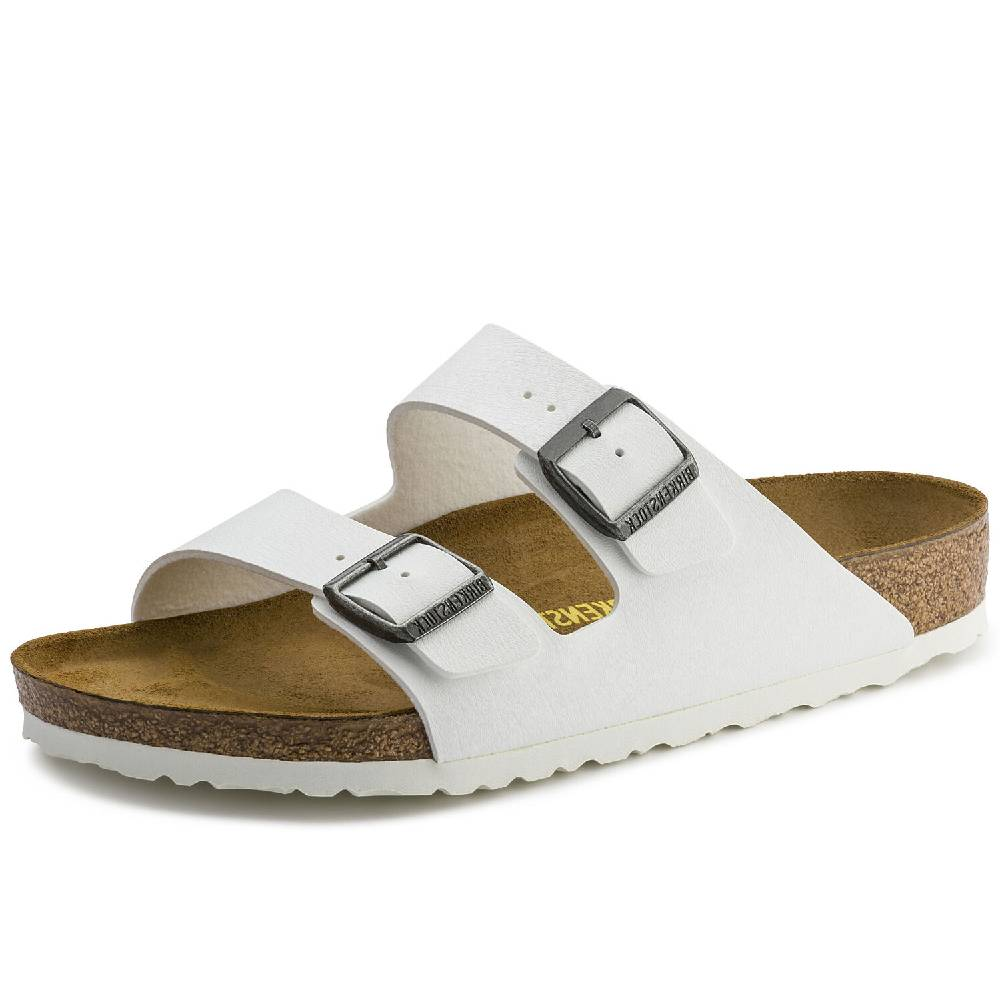 Birkenstock Arizona White WOMEN - Footwear - Sandals & Flip Flops BIRKENSTOCK Teskeys