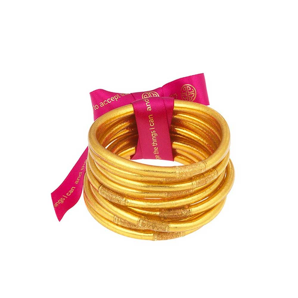 BuDhaGirl Gold All Weather Bangles WOMEN - Accessories - Jewelry - Bracelets BuDhaGirl LLC Teskeys
