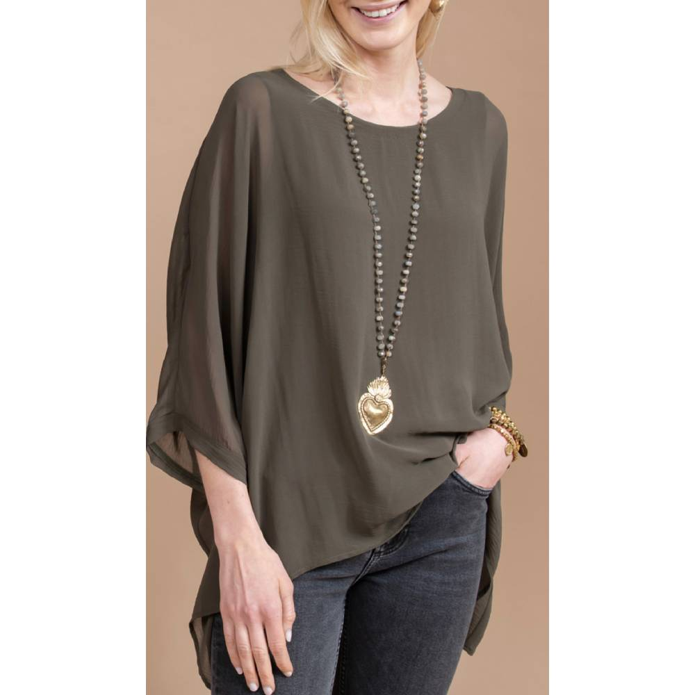 Aunt Wanda Cuffed Dolman Top WOMEN - Clothing - Tops - Tunics AUNT WANDA Teskeys