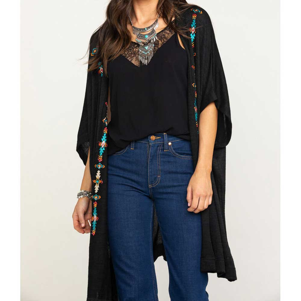 Panhandle Aztec Embroidered Sweater Kimono WOMEN - Clothing - Sweaters & Cardigans Panhandle Teskeys