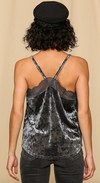 Crushed Velvet Lace Cami