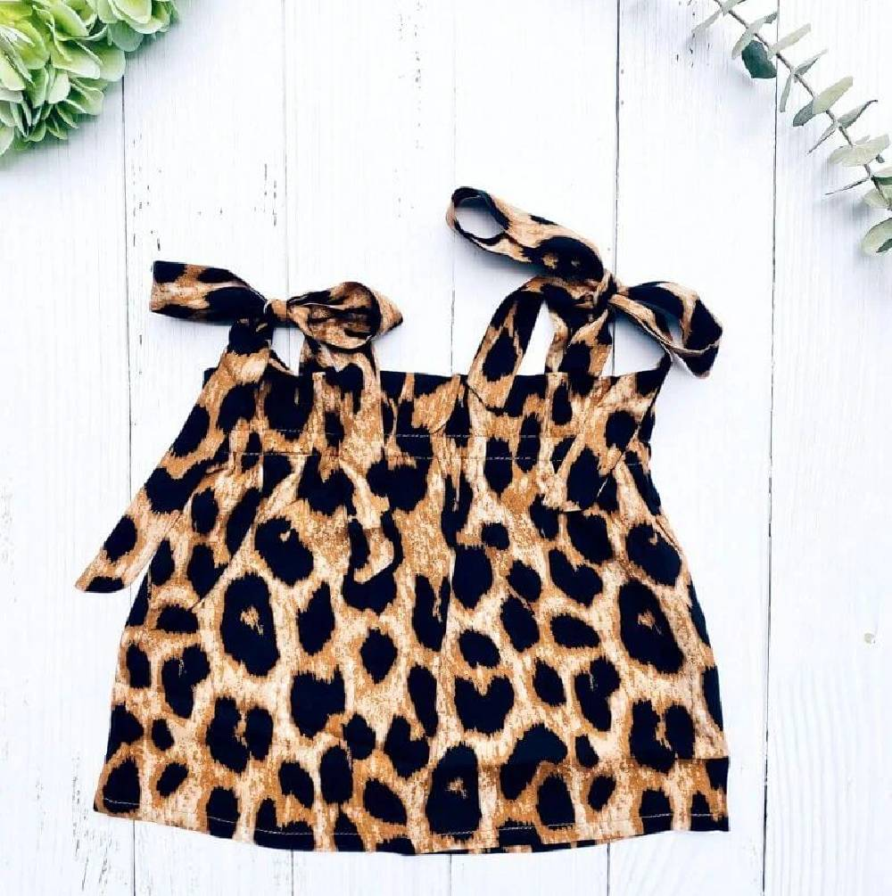 Bailey's Blossoms Thia Leopard Tie Tank KIDS - Baby - Baby Girl Clothing BAILEY'S BLOSSOMS Teskeys
