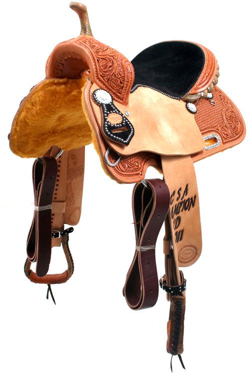 TROPHY BARREL SADDLE 32 CUSTOMS & AWARDS - SADDLES Teskeys Teskeys