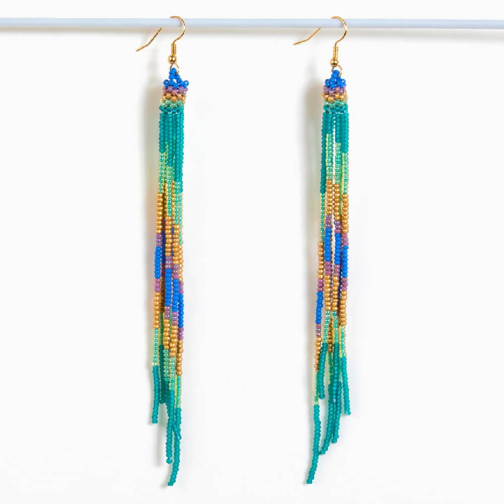 Altiplano Beaded Fringe Earring WOMEN - Accessories - Jewelry - Earrings ALTIPLANO, INC Teskeys