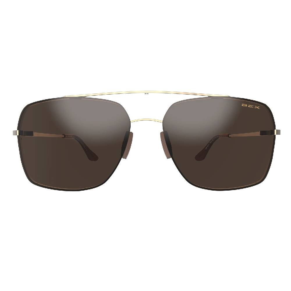 BEX Pilot Sunglasses-Gold/Brown ACCESSORIES - Additional Accessories - Sunglasses BEX Teskeys