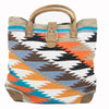 Large Wool Aztec Tote - Turquoise WOMEN - Accessories - Handbags - Tote Bags Teskeys Teskeys