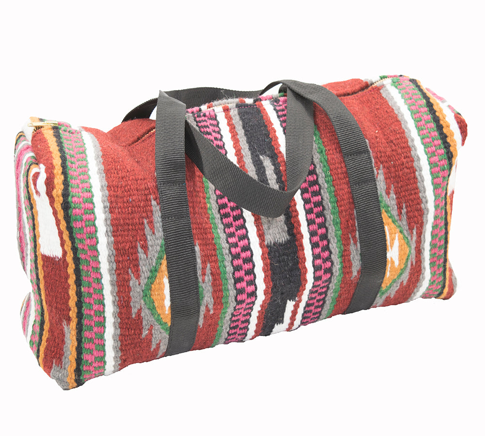 Aztec Woven Duffle - Red ACCESSORIES - Luggage & Travel - Duffle Bags Teskeys Teskeys