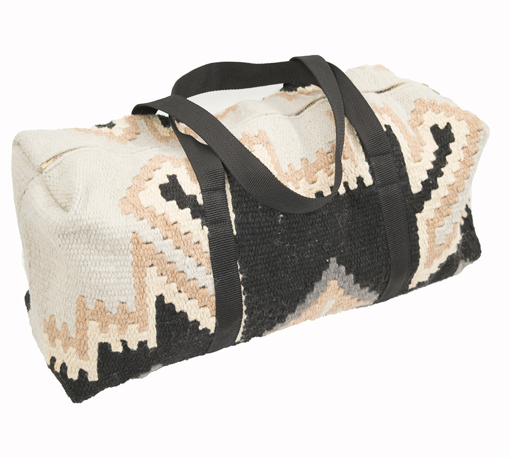 Aztec Woven Duffle - Grey ACCESSORIES - Luggage & Travel - Duffle Bags Teskeys Teskeys