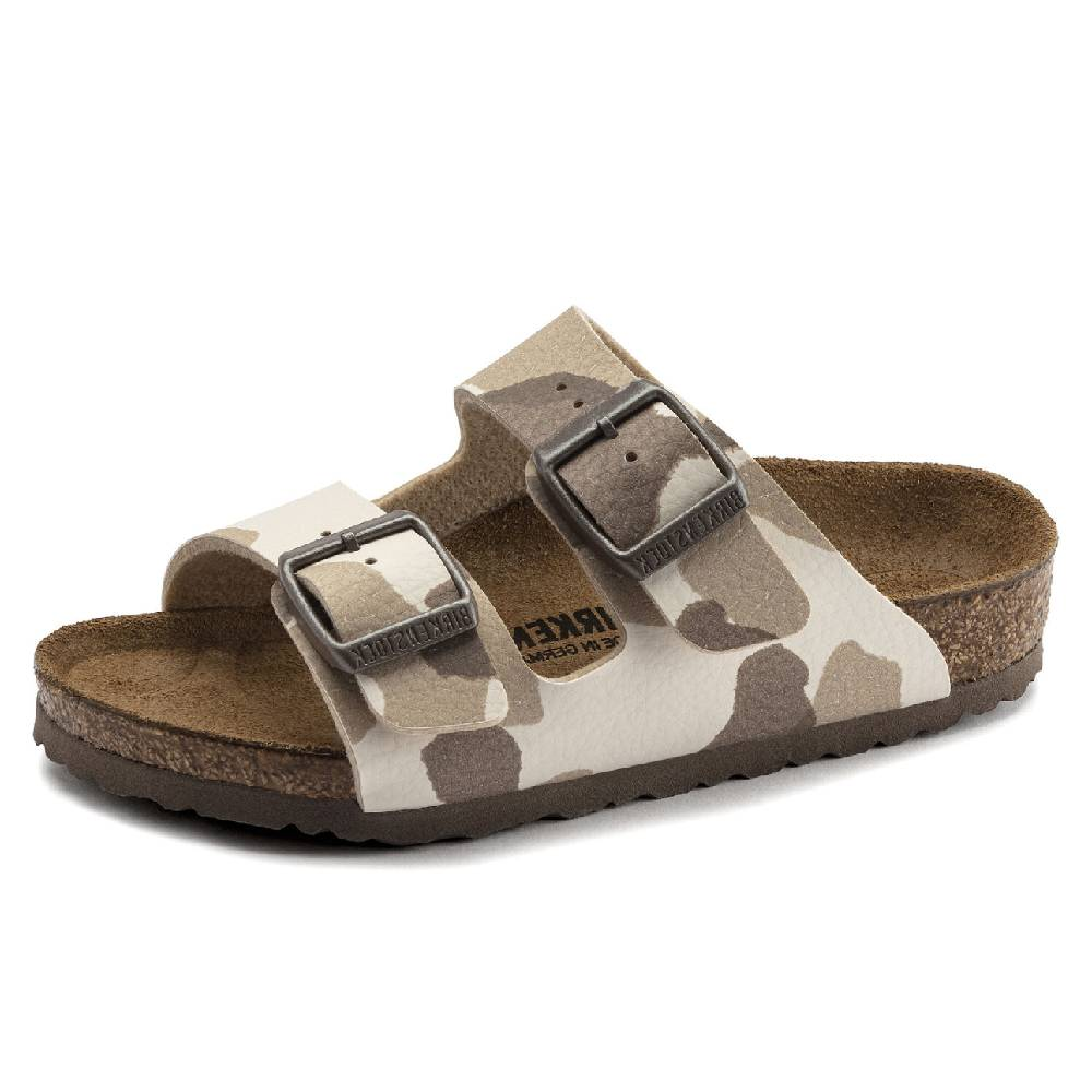 Birkenstock Kids Arizona Camo Almond KIDS - Girls - Footwear - Flip Flops & Sandals BIRKENSTOCK Teskeys