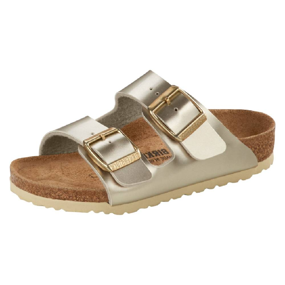 Birkenstock Arizona Electric Gold KIDS - Girls - Footwear - Flip Flops & Sandals BIRKENSTOCK Teskeys