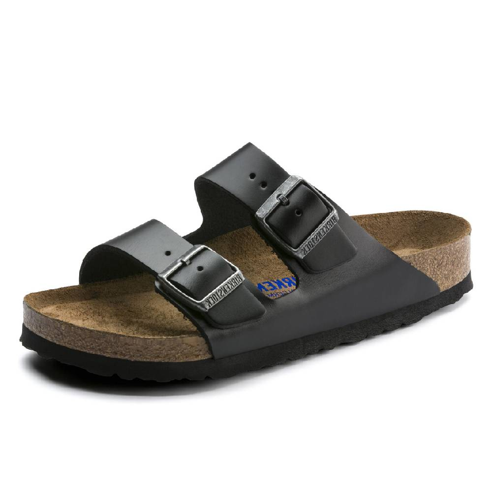 Birkenstock Arizona Amalfi Black WOMEN - Footwear - Sandals & Flip Flops BIRKENSTOCK Teskeys