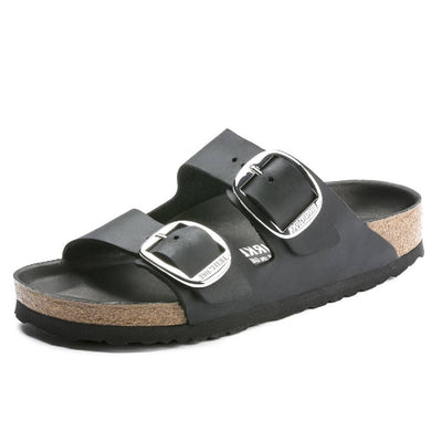 Birkenstock Arizona Big Buckle Black WOMEN - Footwear - Sandals BIRKENSTOCK Teskeys
