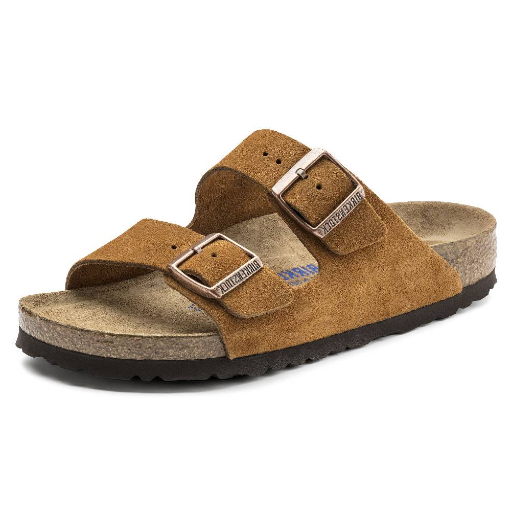 Birkenstock Arizona Suede Mink WOMEN - Footwear - Sandals BIRKENSTOCK Teskeys