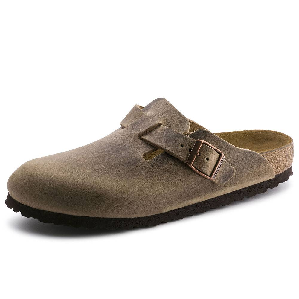 Birkenstock Boston Tobacco Brown WOMEN - Footwear - Sandals BIRKENSTOCK Teskeys