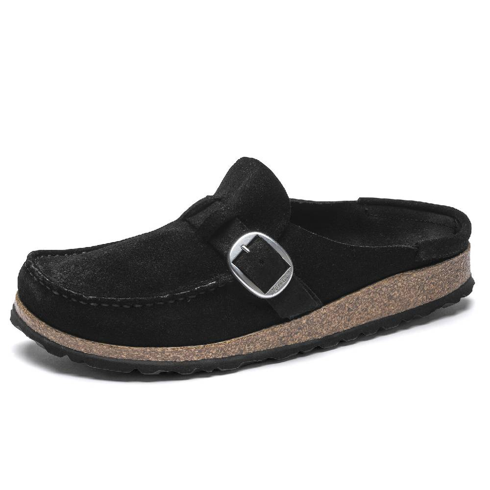 Birkenstock Buckley Black Suede WOMEN - Footwear - Sandals BIRKENSTOCK Teskeys
