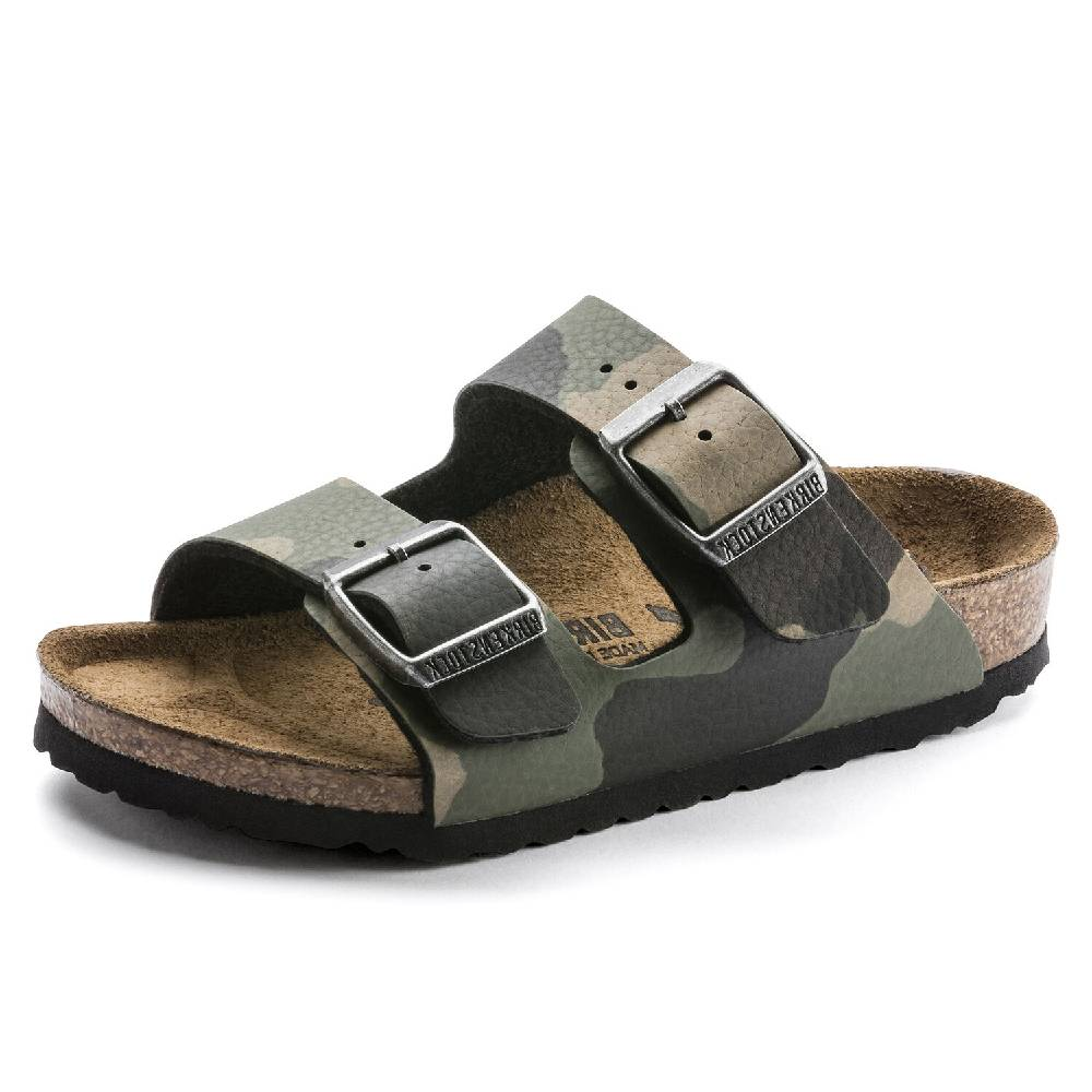 Birkenstock Kids Arizona Camo Khaki KIDS - Girls - Footwear - Flip Flops & Sandals BIRKENSTOCK Teskeys