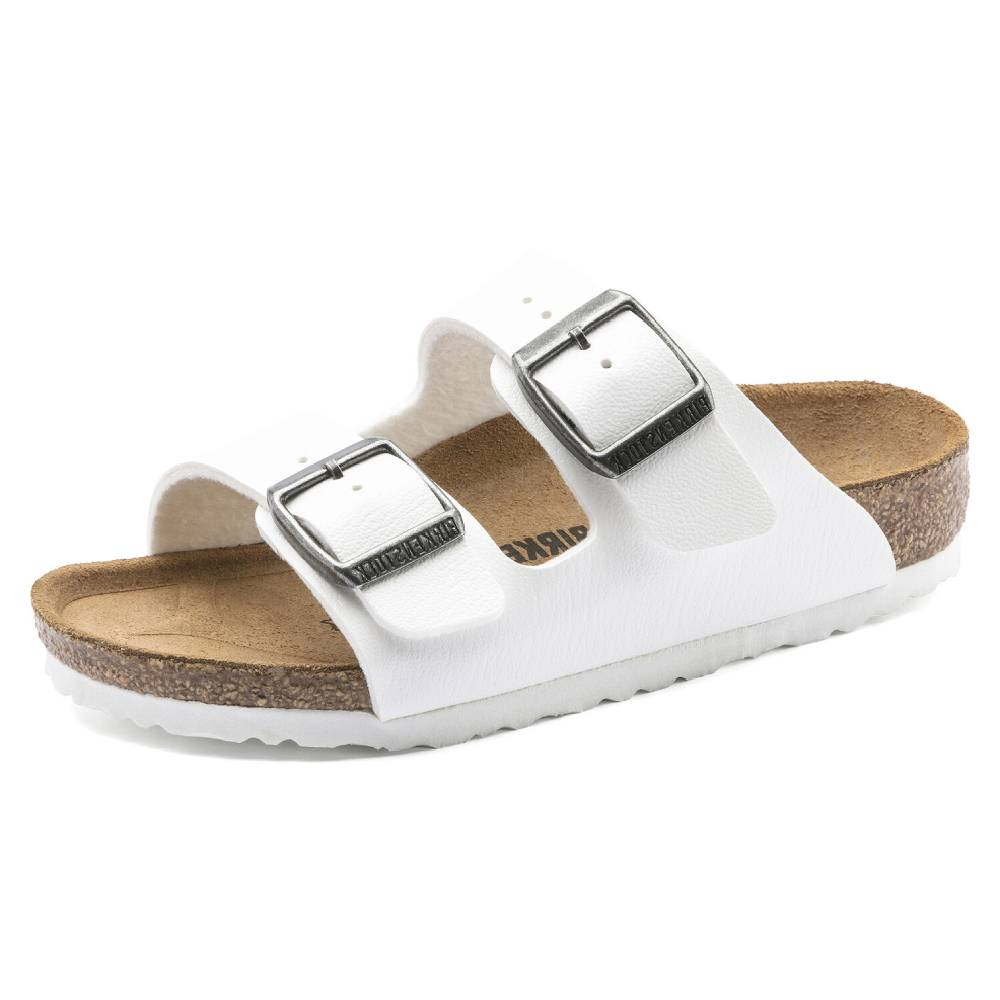 Birkenstock Kids Arizona White KIDS - Girls - Footwear - Flip Flops & Sandals BIRKENSTOCK Teskeys