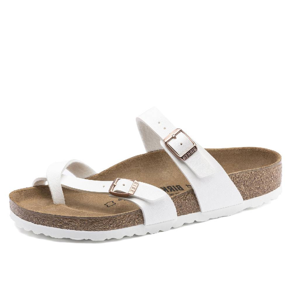 Birkenstock Mayari White WOMEN - Footwear - Sandals BIRKENSTOCK Teskeys