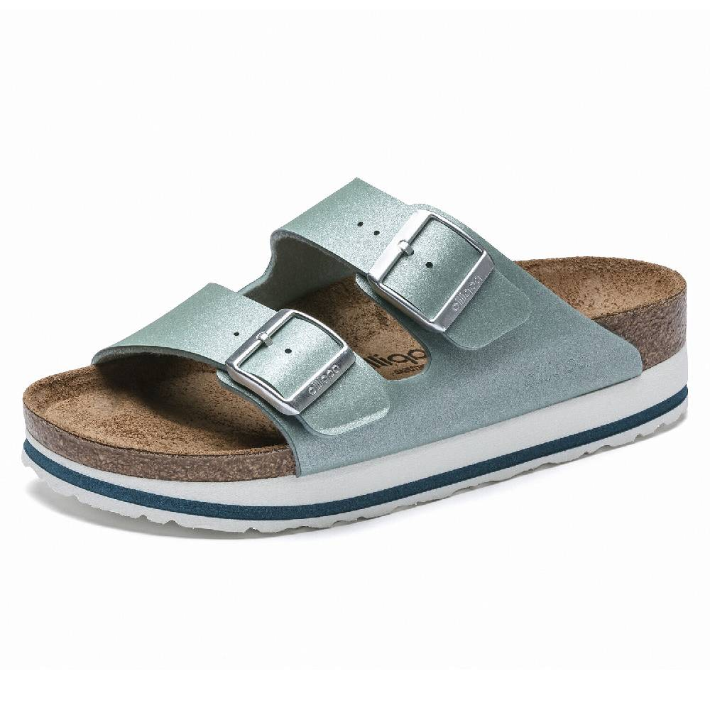 Birkenstock Arizona Papillio Ice Metallic Ocean Breeze WOMEN - Footwear - Sandals BIRKENSTOCK Teskeys