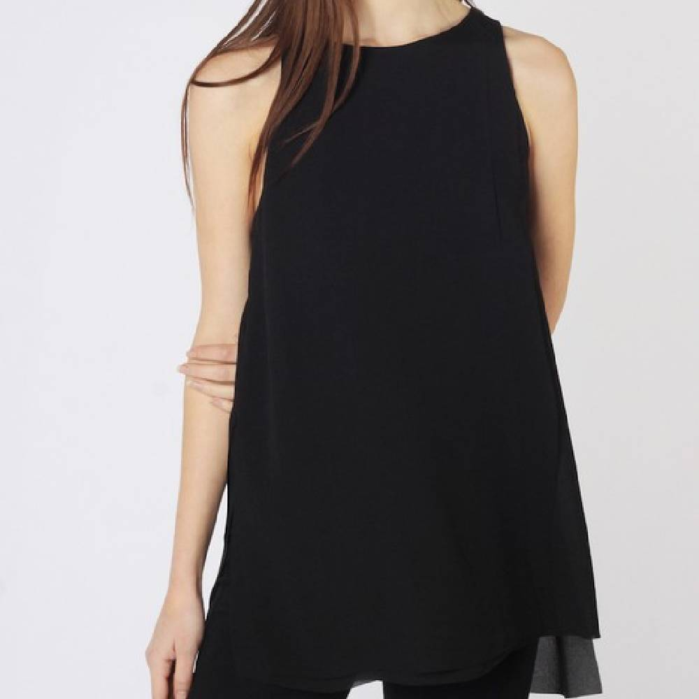 Black Anais Top WOMEN - Clothing - Tops - Sleeveless MOD REF Teskeys