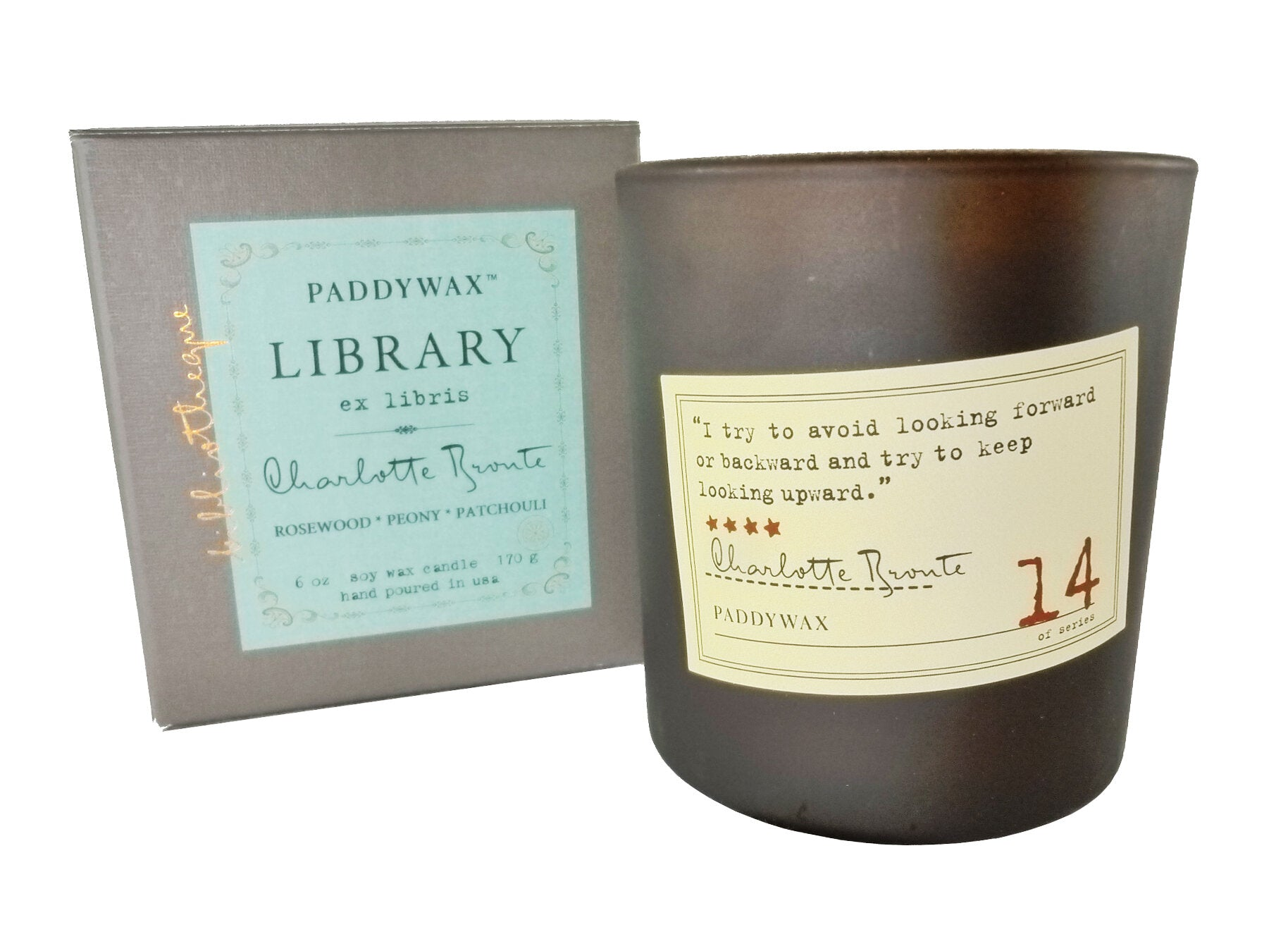 Paddywax Library Series 6oz Candle - Charlotte Bronte HOME & GIFTS - Home Decor - Candles + Diffusers Paddywax Teskeys