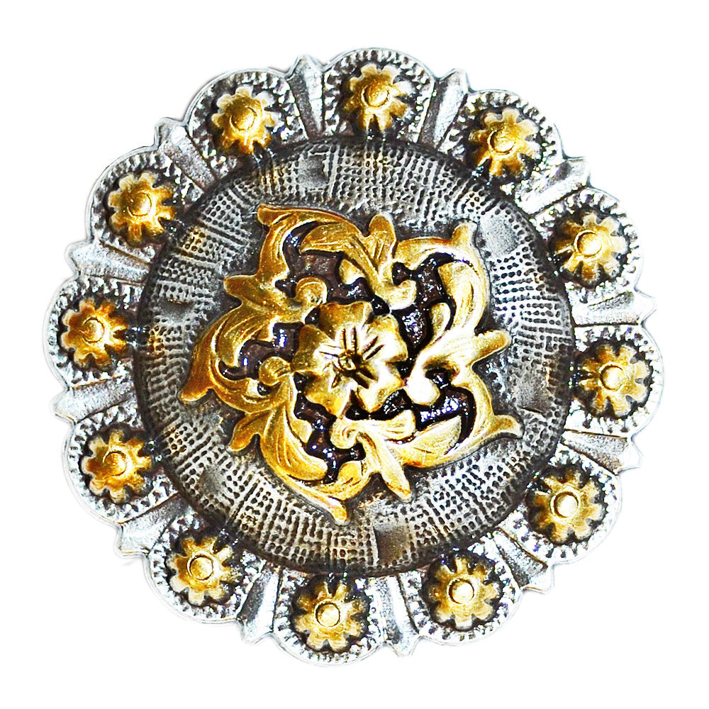 Gold Flower Concho