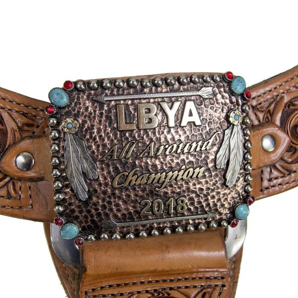 TROPHY BREASTCOLLAR WITH BUCKLE CENTER
