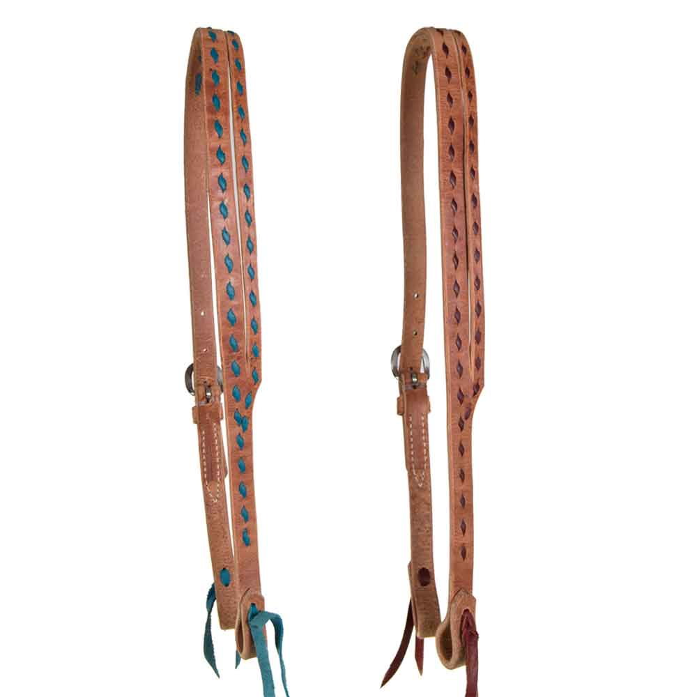 Teskey's Buckstitched Split Ear Headstall Tack - Headstalls - One Ear Teskey's Teskeys