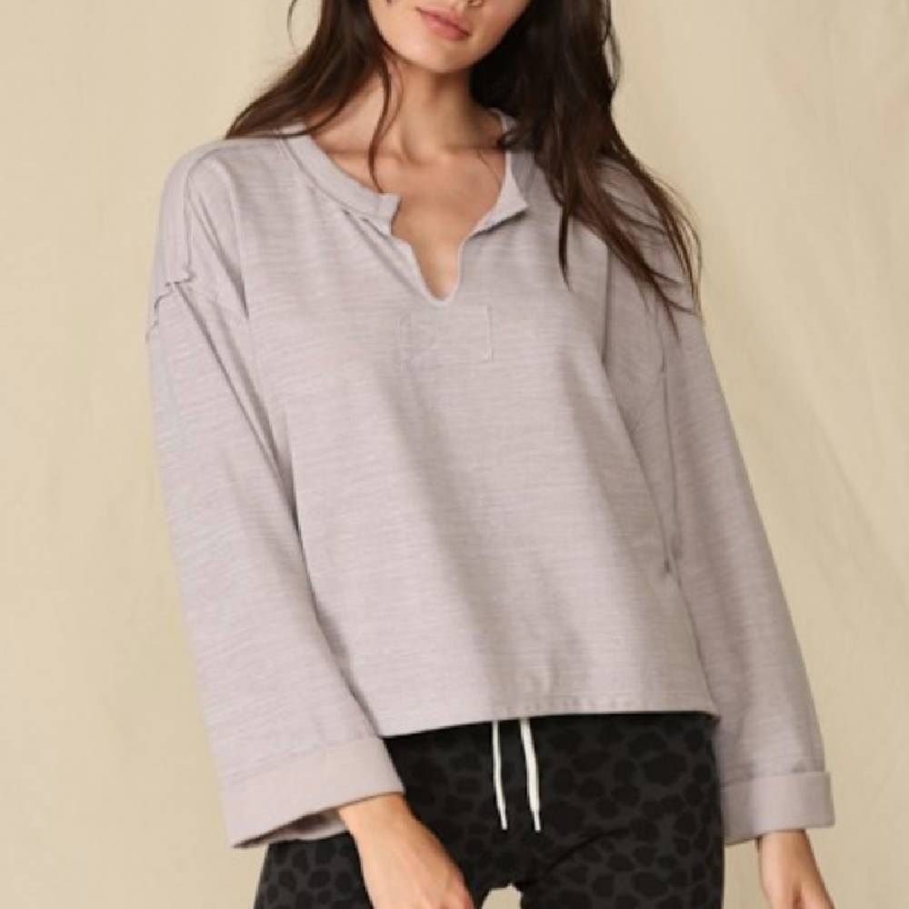 Knit Double Layer Jersey Top WOMEN - Clothing - Tops - Long Sleeved BY TOGETHER Teskeys