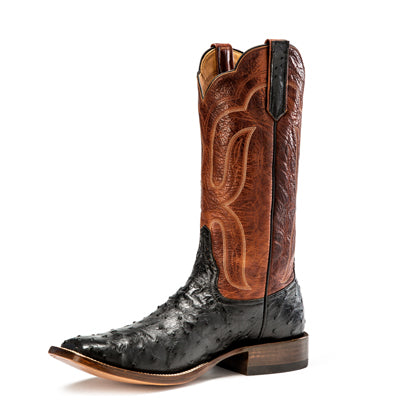 Rios of Mercedes Black FQ Ostrich Boot MEN - Footwear - Exotic Western Boots RIOS OF MERCEDES BOOT CO. Teskeys