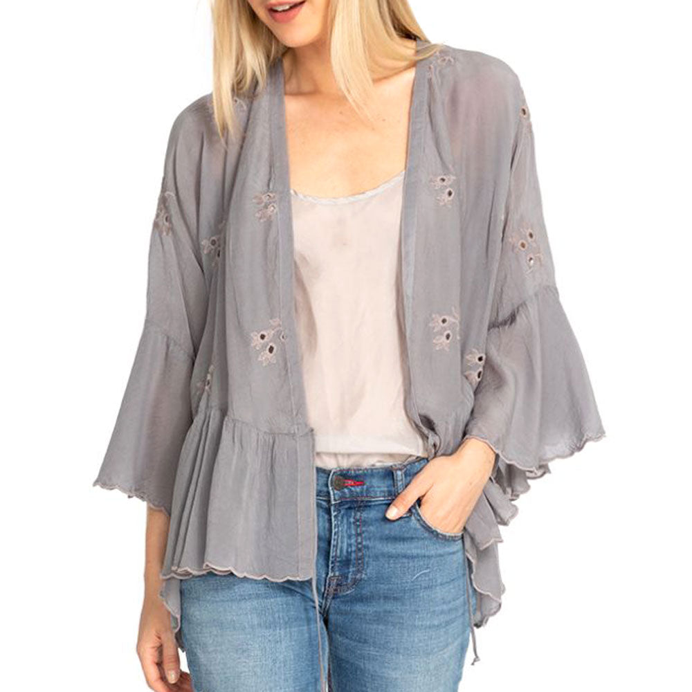 Lance Ruffle Kimono WOMEN - Clothing - Sweaters & Cardigans JOHNNY WAS COLLECTION Teskeys