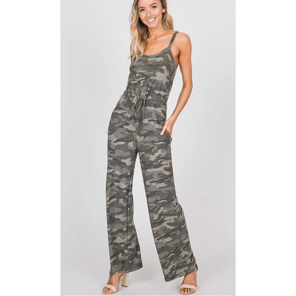 Camo Jumpsuit WOMEN - Clothing - Jumpsuits & Rompers 1 STYLE IN USA Teskeys