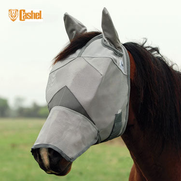 Cashel Crusader Fly Mask With Long Nose and Ears FARM & RANCH - Animal Care - Equine - Fly & Insect Control - Fly Masks & Sheets Cashel Teskeys
