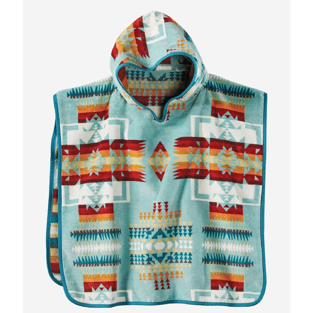 Pendleton Kid's Chief Joseph Hooded Towel  - Aqua