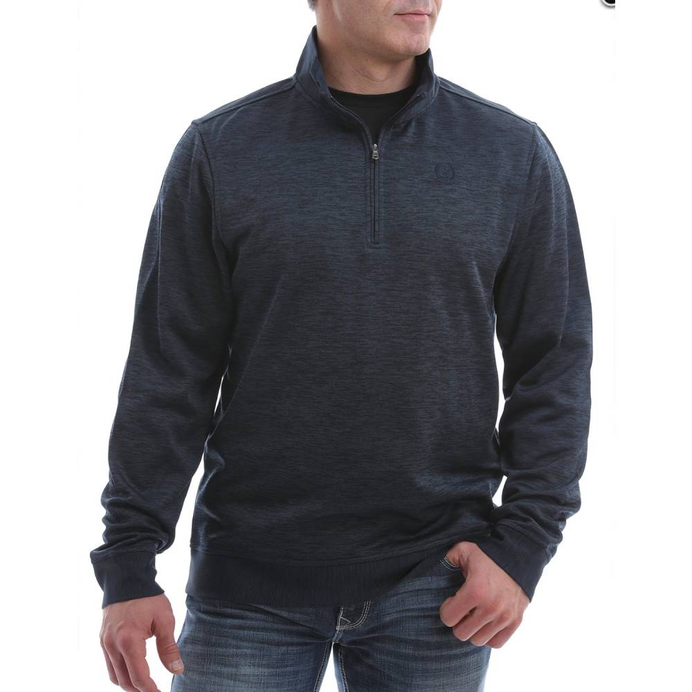 Cinch Men's 1/4 Zip Pullover - Heather Navy MEN - Clothing - Pullovers & Hoodies CINCH Teskeys