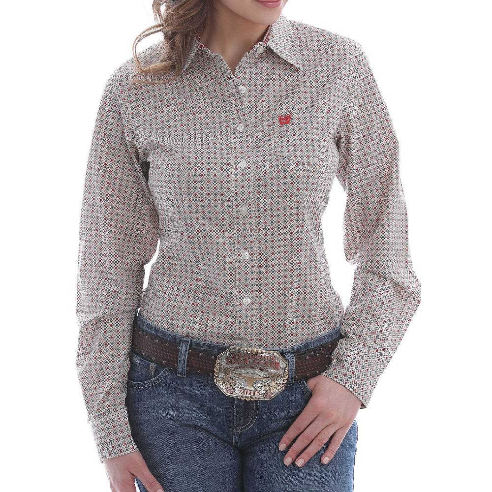 Cinch Women's Geo Print Button Down Shirt