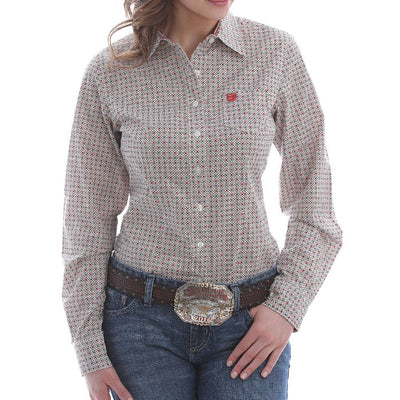 Cinch Women's Geo Print Button Down Shirt WOMEN - Clothing - Tops - Long Sleeved CINCH Teskeys