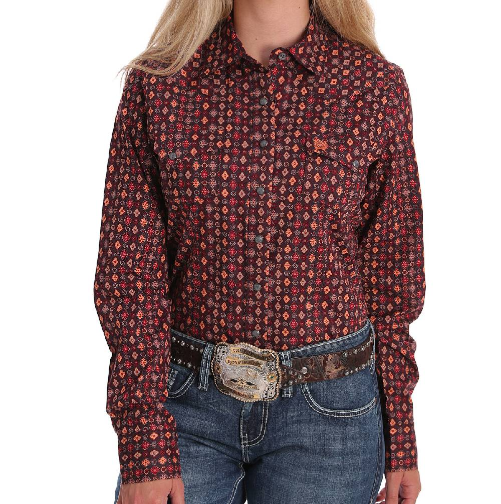 Cinch Women's Geo Print Snap Shirt WOMEN - Clothing - Tops - Long Sleeved CINCH Teskeys