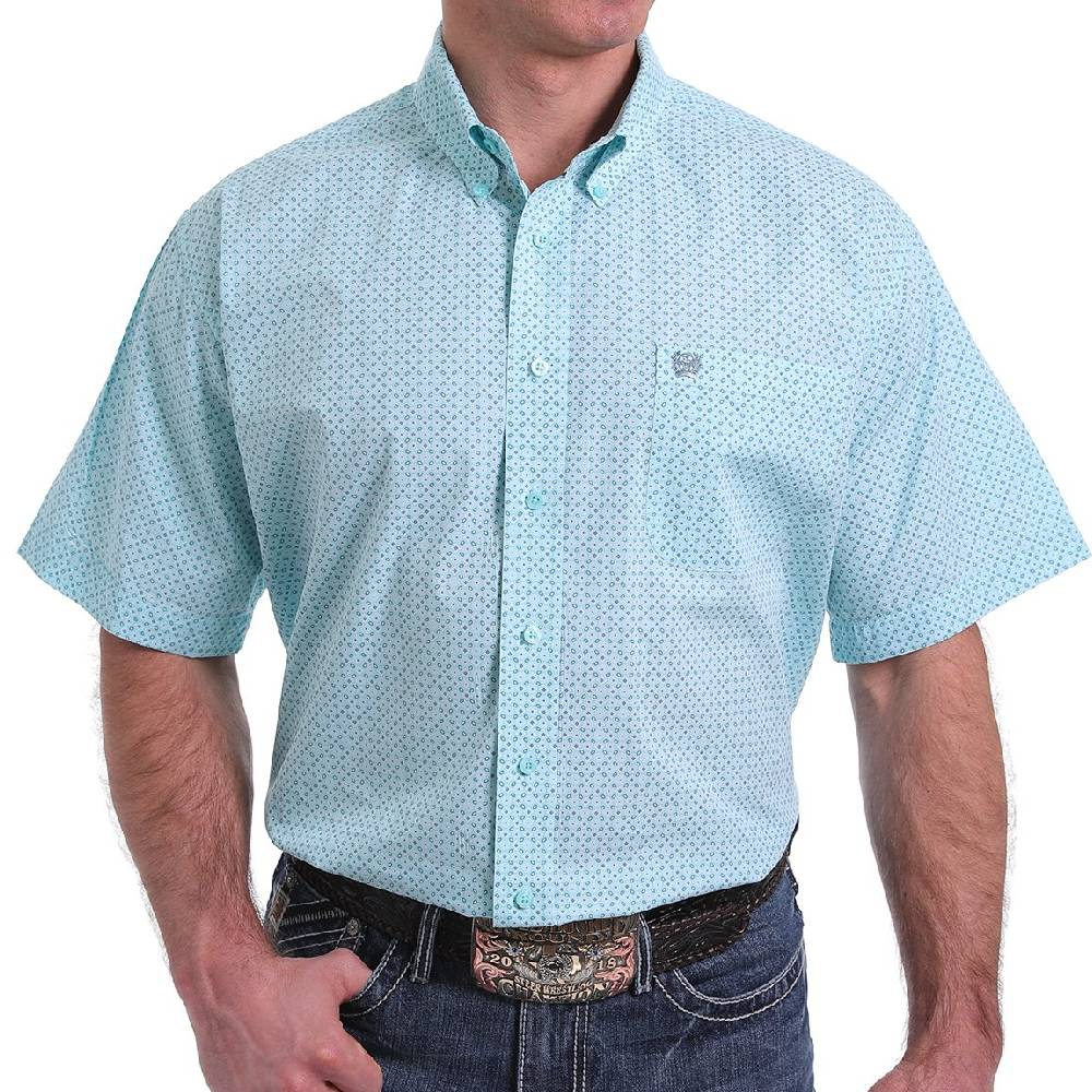 Cinch Geo Print Button Down Shirt MEN - Clothing - Shirts - Short Sleeve Shirts CINCH Teskeys